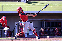 GREENSBORO, NC - FEBRUARY 25: Mike Caruso #19 of Fairfield University hits the ball during a game between Fairfield and UNC Greensboro at UNCG Baseball Stadium on February 25, 2020 in Greensboro, North Carolina.