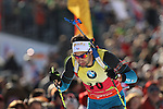 09/12/2016, Pokljuka - IBU Biathlon World Cup.<br /> Martin Fourcade competes at the sprint race in Pokljuka, Slovenia on 09/12/2016. French Martin Fourcade ended first and keeps it's yellow jersey.