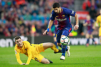 FC Barcelona's Luis Suarez (r) and Atletico de Madrid's Lucas Hernandez during La Liga match. March 4,2018. (ALTERPHOTOS/Acero) /NortePhoto.com NORTEPHOTOMEXICO