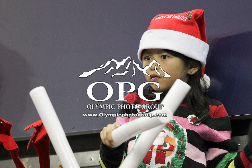 DEC 22, 2015:  Washington fans showed there support during the game against Seattle University. Washington defeated Seattle University 79-68 at Alaska Airlines Arena in Seattle, WA.