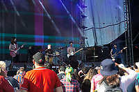 MEXICALI, MEXICO - June 8 A general view of the mexican band Serbia performance durig their show on the Tecate Location June 8, 2019 in Mexicali, Mexico.<br /> Tecate Location Mexicali 2019 is one of the main music festivals nationwide and in the state, Band line up<br /> CAIFANES, CAMILO VII, DRAKE BELL, LNG / SHT, SERBIA<br /> (Photo by Luis Boza/VIEWpress)
