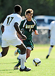 1 September 2009: Siena College Saints' midfielder Sebastien Anzevui, a Junior from Newcastle, England, in action against the University of Vermont Catamounts at Centennial Field in Burlington, Vermont. The Saints edged out the Catamounts 1-0. Mandatory Photo Credit: Ed Wolfstein Photo