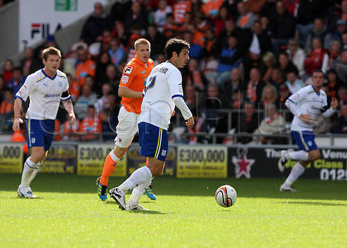 17.09.2011 Championship Football from Bloomfield Road. Blackpool v Cardiff City. Peter Whittingham gets ready to shoot