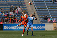 Bridgeview, IL - Saturday May 06, 2017: Janine Beckie,  Danielle Colaprico during a regular season National Women's Soccer League (NWSL) match between the Chicago Red Stars and the Houston Dash at Toyota Park. The Red Stars won 2-0.