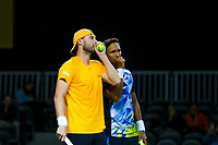 Rotterdam, The Netherlands, 12 Februari 2020, ABNAMRO World Tennis Tournament, Ahoy. Doubles: Raven Klaasen (RSA) and Oliver Marach (AUT).<br /> Photo: www.tennisimages.com