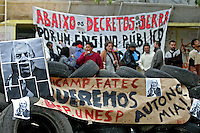 Ocupação estudantil da Reitoria da Universidade de São Paulo, USP. 2007. Foto de Caetano Barreira.