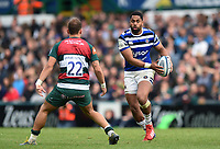 Joe Cokanasiga of Bath Rugby in possession. Gallagher Premiership match, between Leicester Tigers and Bath Rugby on May 18, 2019 at Welford Road in Leicester, England. Photo by: Patrick Khachfe / Onside Images