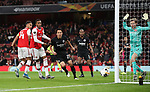 Joe Willock of Arsenal  misses a chance to score during the UEFA Europa League match at the Emirates Stadium, London. Picture date: 28th November 2019. Picture credit should read: David Klein/Sportimage