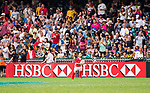 HSBC ball-carriers at the HSBC Hong Kong Rugby Sevens 2017 on 09 April 2017 in Hong Kong Stadium, Hong Kong, China. Photo by Marcio Rodrigo Machado / Power Sport Images