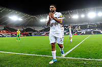 Cameron Carter-Vickers of Swansea City applauds the fans at the final whistle during the Sky Bet Championship match between Swansea City and West Bromwich Albion at the Liberty Stadium in Swansea, Wales, UK. Wednesday 28 November 2018