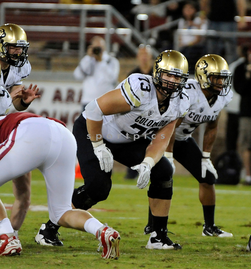 RYAN MILLER, of the Colorado Buffaloes, in action during Colorado's game against the Stanford Cardinal on October 8, 2011 at Stanford Stadium in Stanford, CA. Stanford beat Colorado 48-7.