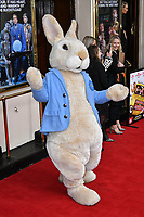 Peter Rabbit attends press performance of Where Is Peter Rabbit? musical following the beloved character Peter Rabbit and his friends in a story based on Beatrix Potter's magical world, at Theatre Royal Haymarket<br /> CAP/JOR<br /> &copy;JOR/Capital Pictures