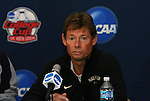10 December 2009: Wake Forest head coach Jay Vidovich. The Wake Forest University Demon Deacons held a press conference at WakeMed Soccer Stadium in Cary, North Carolina on the day before playing Virginia in an NCAA Division I Men's College Cup semifinal game.