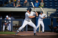 West Michigan Whitecaps left fielder Cam Gibson (23) at bat during a game against the Clinton LumberKings on May 3, 2017 at Fifth Third Ballpark in Comstock Park, Michigan.  West Michigan defeated Clinton 3-2.  (Mike Janes/Four Seam Images)