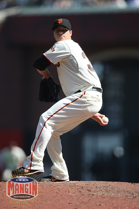 SAN FRANCISCO - SEPTEMBER 7:  Billy Sadler of the San Francisco Giants pitches during the game against the Pittsburgh Pirates at AT&T Park in San Francisco, California on September 7, 2008.  The Giants defeated the Pirates 11-6.  Photo by Brad Mangin