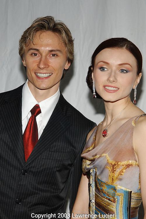 Dancers Maxim Belotserkovsky and Irina Dvorovenko (R)
