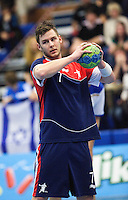 02 NOV 2011 - LONDON, GBR - Britain's Chris Mohr prepares to pass during the Men's 2013 World Handball Championship qualification match against Israel at the National Sports Centre at Crystal Palace (PHOTO (C) NIGEL FARROW)