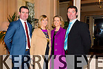 Kieran Savage, Ann Savage, Elaine Buckley, Pat Buckley from Kielduff and Abbeydorney at Kerry IFA 70th. Anniversary Dinner at Ballygarry House hotel on Friday