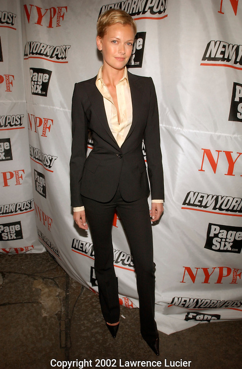 Model Sarah Murdoch arrive at the launch party for the New York Post's first 20 page full-color fashion supplement February 7, 2002, in New York.  Sarah and her husband Lachlan Murdoch hosted the party at the Mercer Kitchen in Soho..