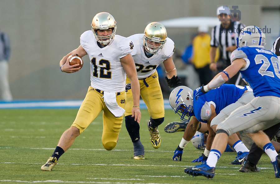 Oct. 26, 2013; Andrew Hendrix runs the ball in the fourth quarter.