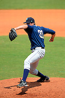 Mobile BayBears pitcher Dan Cortes #31 during a game against the Montgomery Biscuits on April 16, 2013 at Riverwalk Stadium in Montgomery, Alabama.  Montgomery defeated Mobile 9-3.  (Mike Janes/Four Seam Images)