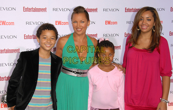 VANESSA WILLIAMS & GUESTS.attends The Entertainment Weekly 5th Annual Pre-Emmy Party held at Opera & Crimson in Hollywood, California, USA, September 15 2007..half length green dress                                                   .CAP/DVS.©Debbie VanStory/Capital Pictures