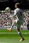 Real Madrid´s Sergio Ramos during 2014-15 La Liga match between Real Madrid and Granada at Santiago Bernabeu stadium in Madrid, Spain. April 05, 2015. (ALTERPHOTOS/Luis Fernandez)