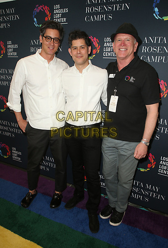 LOS ANGELES, CA -APRIL 7: Dominic Leong, Chris Leong, Bill McDermott, at Grand Opening Of The Los Angeles LGBT Center's Anita May Rosenstein Campus at Anita May Rosenstein Campus in Los Angeles, California on April 7, 2019.<br /> CAP/MPIFS<br /> ©MPIFS/Capital Pictures