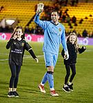 11.05.2018 Livingston v Dundee Utd: Neil Alexander celebrates with his kids