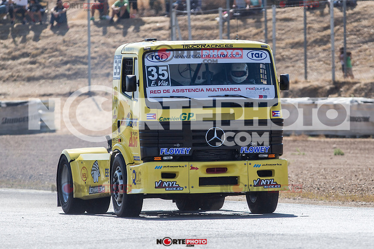 Spanish driver Enrique Alberto Mila Monteserin belonging Spanish team Enrique Alberto Mila Monteserin during the fist race R1 of the XXX Spain GP Camion of the FIA European Truck Racing Championship 2016 in Madrid. October 01, 2016. (ALTERPHOTOS/Rodrigo Jimenez) /NortePHOTO /NORTEPHOTO.COM