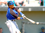 18 March 2006: Carlos Gomez, outfielder for the New York Mets, at bat during a Spring Training game against the Washington Nationals at Space Coast Stadium, in Viera, Florida. The Nationals defeated the Mets 10-2 in Grapefruit League play...Mandatory Photo Credit: Ed Wolfstein Photo..