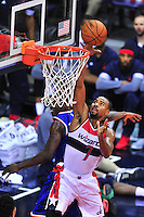 Wizards' Ramon Session gets an easy bucket. New York defeated Washington 115-104 during a NBA preseason game at the Verizon Center in Washington, D.C. on Friday, October 9, 2015.  Alan P. Santos/DC Sports Box