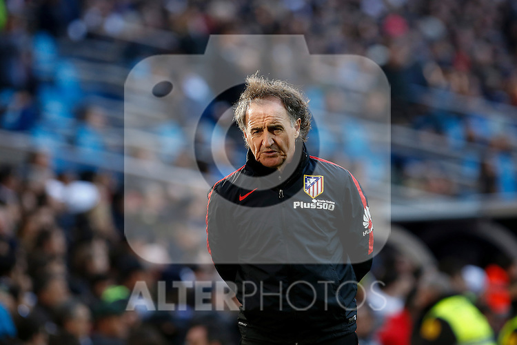 Atletico de Madrid´s training coach Profe Ortega during 2015/16 La Liga match between Real Madrid and Atletico de Madrid at Santiago Bernabeu stadium in Madrid, Spain. February 27, 2016. (ALTERPHOTOS/Victor Blanco)