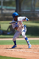 AZL Royals Tyler Tolbert (14) squares to bunt during an Arizona League game against the AZL Dodgers Lasorda on July 4, 2019 at Camelback Ranch in Glendale, Arizona. The AZL Royals defeated the AZL Dodgers Lasorda 4-1. (Zachary Lucy/Four Seam Images)