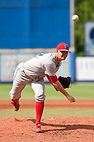 Tyler Cloyd (22) of the Clearwater Threshers during a game vs. the St. Lucie Mets May 30 2010 at Digital Domain Park, Port St. Lucie Florida. St. Lucie won the game against Clearwater by the score of 3-2. Photo By Scott Jontes/Four Seam Images