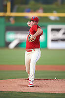 Clearwater Threshers starting pitcher Will Morris (23) delivers a pitch during a game against the Charlotte Stone Crabs on April 12, 2016 at Bright House Field in Clearwater, Florida.  Charlotte defeated Clearwater 2-1.  (Mike Janes/Four Seam Images)