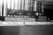 March 25, 2009.Detroit, Michigan.USA..An empty bank downtown. ..Known as the world's automotive center Detroit was once the home of 1.85 million people in the 1950's. It now houses 917,000 and for this reason it is said that there are now 80,000 abandoned buildings within the city.  ..