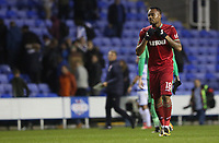Jordan Ayew of Swansea City after the final whistle of the Carabao Cup Third Round match between Reading and Swansea City at Madejski Stadium, Reading, England, UK. Tuesday 19 September 2017