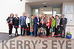 Jimmy Deenihan, Minister for the Diaspora, cuts the ribbon to officially open the new Ard Curam Day Care Centre in Lisowel.