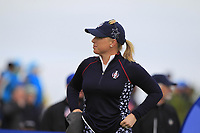 Morgan Pressel (USA) on the 2nd tee during Day 3 Singles at the Solheim Cup 2019, Gleneagles Golf CLub, Auchterarder, Perthshire, Scotland. 15/09/2019.<br /> Picture Thos Caffrey / Golffile.ie<br /> <br /> All photo usage must carry mandatory copyright credit (© Golffile | Thos Caffrey)