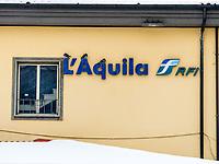 L'Aquila, stazione ferroviaria con la neve. Photo by Adamo Di Loreto/BuenaVista*photo