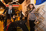 Skills Active Cymru<br /> Alex Collins from Stanwell School trying his hand at horse racing.<br /> Cardiff International Arena<br /> 23.10.14<br /> &copy;Steve Pope-FOTOWALES