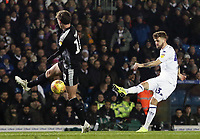 Leeds United's Mateusz Klich passes despite the attentions of Reading's John Swift<br /> <br /> Photographer Rich Linley/CameraSport<br /> <br /> The EFL Sky Bet Championship - Leeds United v Reading - Tuesday 27th November 2018 - Elland Road - Leeds<br /> <br /> World Copyright &copy; 2018 CameraSport. All rights reserved. 43 Linden Ave. Countesthorpe. Leicester. England. LE8 5PG - Tel: +44 (0) 116 277 4147 - admin@camerasport.com - www.camerasport.com