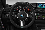 Car pictures of steering wheel view of a 2018 BMW M4 M4 CS 2 Door Coupe