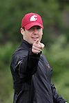 "Former Cougar quarterback, Jason Gesser, plays to the camera after hitting his tee shot on the 12th tee during the ""Cougar Legends"" weekend at the Coeur d'Alene Resort in Coeur d'Alene, Idaho, on June 17-18, 2011."