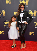 Farrah Abraham &amp; Sophia Laurent Abraham at the 2018 MTV Movie &amp; TV Awards at the Barker Hanger, Santa Monica, USA 16 June 2018<br /> Picture: Paul Smith/Featureflash/SilverHub 0208 004 5359 sales@silverhubmedia.com
