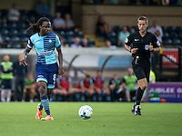 Marcus Bean of Wycombe Wanderers during the Sky Bet League 2 match between Wycombe Wanderers and Colchester United at Adams Park, High Wycombe, England on 27 August 2016. Photo by Liam McAvoy.