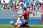 CD Leganes' Alexander Szymanowski (l) and Atletico de Madrid's Diego Godin during friendly match. August 12,2017. (ALTERPHOTOS/Acero)