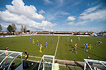 Lowestoft Town 2 Barrow 3, 25/04/2015. Crown Meadow, Conference North. Barrow make the six-hour trip to Suffolk needing a win to secure the title. Photo by Simon Gill.
