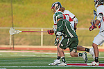 Redondo Beach, CA 05/11/10 - Zach Rogers (PV # 27) and Conor Murphy (MC # 4) in action during the 2010 Los Angeles Boys Lacrosse championship game, Mira Costa defeated Palos Verdes 12-10 at Redondo Union High School.